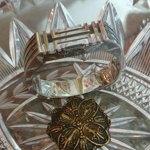 TORY BURCH Fit Bit Flex Silver Plated Bracelet